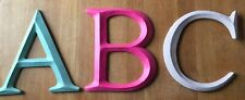 Large ABC Alphabet Painted Letters Nursery Kids Room Can Be Wall Hung Decoration