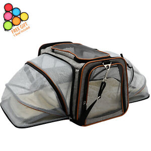 Expandable Pet Carrier Airline Approved For Cats Dogs Under Seat Compatibility