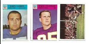 1966 Philadelphia NFL Football:Lot of 3 different