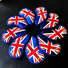 9pcs/set Uk Flag Golf Club Iron Head Cover For Callaway Titleist Taylormade Ping