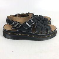 Dr Martens ARC Leather Buckle Fisherman Sandals Mens Size 10 Black 8092