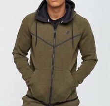 NWT Men's Nike Tech Fleece Windrunner Hoodie Medium Olive S 805144 222