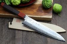 """VG-10 Hammered Damascus Gyuto 7"""" NSW Rosewood Japanese Sushi Chef knifeYoshihiro"""