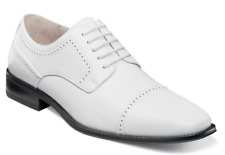 Stacy Adams Shoes Waltham Cap Toe Oxford White Dressy 20138-100 Free Shipping