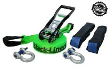 Slackline SET COMPLETO 6-tlg 50mm-larga lungo 15m-Neon Verde-Made in Germany