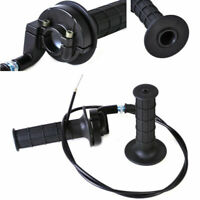 """7/8"""" Pair Handlebar Hand Grip with Throttle Cable for ATV Motocross Motorcycle"""