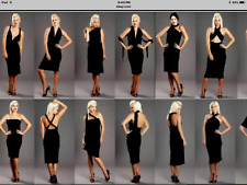 Ladies sexy INFINITE DRESS size XL black adjustable length with wrap 153