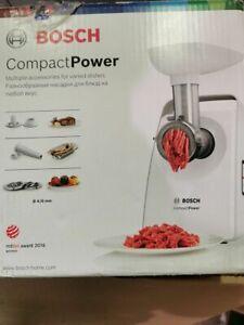 Bosch MFW3520W CompactPower Fleischwolf, 1500W Blockierleistung, kompakt, Wurstv