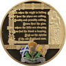 Giant 70mm 110g GoldPlated Medal Medallion Scotland The Brave Proof Like Capsule