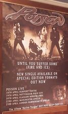 """40x60"""" SUBWAY POSTER~Poison Until You Suffer Some 1993 Fire & Ice Native Tongue~"""