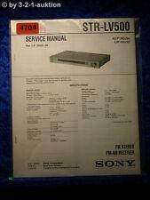 Sony Service Manual STR LV500 FM/AM Receiver (#4704)