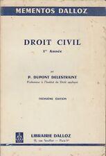 DROIT CIVIL / 1re ANNEE / DUPONT DELESTRAINT / DALLOZ