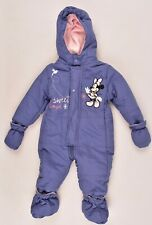 DISNEY Toddlers' Baby Girls' Winter Overall Snowsuit, Blue, size 12 mts