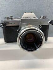 EXCELLENT Topcon Unirex 35mm SLR Film Camera w/Tokyo Kogaku UV Topcor 50mm F/2