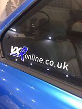 VXR online window sticker graphic decal vauxhall white / blue