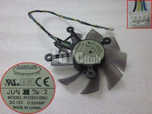 EVERFLOW R128015BU DC 12V 0.50AMP graphics video card Fan 4-Pin
