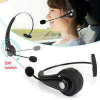 Wireless Headset Headphone Noise Cancelling w/ Mic for Driver Truckers