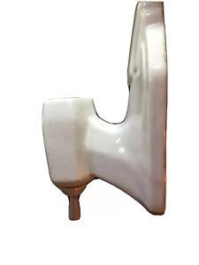Vintage Art Deco White Porcelain Wall Sconce Bathroom Pull Chain Light Fixture