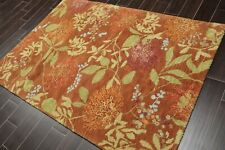5' x 7' Handmade Wool Oriental Area Rug 5x7 Contemporary Brown