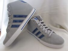 boys adidas mid trainers NEO comfort footbed grey size UK 5 1/2 smart