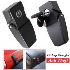 Adjustable Fit For 2007-2017 Jeep Wrangler JK Anti Theft Locking Hood Catch Lock