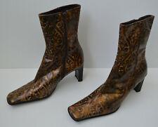 Belmondo Damen Stiefel Schuhe Stiefeletten Boots Braun Größe 40