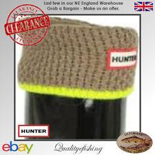 CLEARANCE: Hunter Socks Neon Trim Putty/Neon Yellow Large (UK6-8)