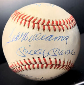 500 Home Run Club 10 Autographed Ball Mickey Mantle Ted Williams Aaron Mays MORE