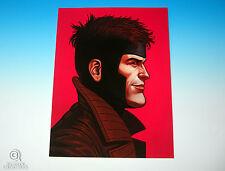 Gambit Mondo Mike Mitchell Portrait Print Marvel Comics X-Men Rare Giclee Proof