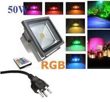 50W RGB LED Flutlicht Fluter Strahler Mit CH Stecker+ Kabel Fluter Lampe ...