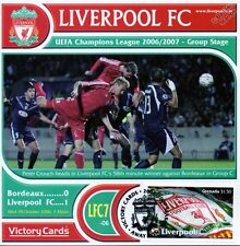 Liverpool 2006-07 Bordeaux (Peter CROUCH) Football Timbre Victoire Carte #607