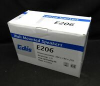 Edis E209 Wall Mounted Speakers Brand New In Box - 100 Watts 8 Ohms 20,000Hz