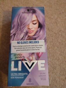 Schwarzkopf live hair dye Ultra Brights Lilac Crush P120