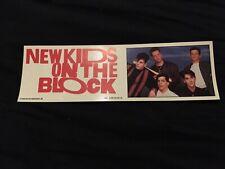 New Kids On The Block Bumper Sticker, 1990, Group, Nkotb