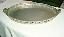 "Royal Holland Pewter Company Oval Pewter Tray 17 1/2"" x 10"""