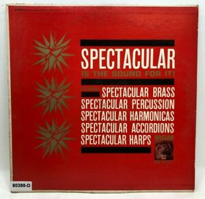 Vintage VINYL RECORD Spectacular Is The Sound Brass Harmonicas Percussion Harps