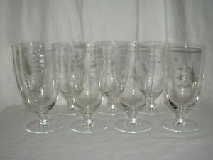 """8 Princess House Heritage 6"""" Ice Tea Glasses"""