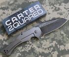 Ontario Carter 2Quared Framelock Flipper Titanium Handle Scales D2 Blade NEW