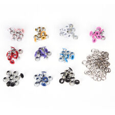 100pcs 4mm Scrapbook Eyelet Random Mixed Color Metal eyelets For DIY clothes LTU