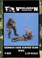 Verlinden 1:35 German Tank Hunter Team WWII 2 Resin Figures Model Kit #829