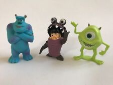 3 Mini Figurine Monsters Inc Sully Boo Mike Toy Cake Topper Age 3+ NEW No Pkg