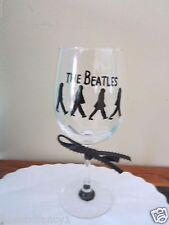 Hand Painted Glass BEATLES,  Stemware,12 oz Wine Glass