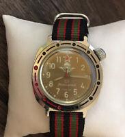 Komandirskie Wostok Men's Military Wristwatch Russian Vintage USSR Watch