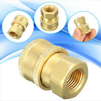 """1/4"""" Quick Release To BSP 1/4"""" Female Pressure Washer Hose Outlet Adaptor Nozzle"""