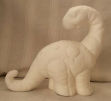 """Softy Dinosaur 8"""" Ceramic Bisque, Ready To Paint"""