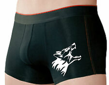 Stretch Action boxers negro m. símbolo fuerza Wolf gimiendo