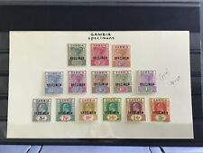 Gambia mounted mint specimen  stamps Victoria and Edward R29726