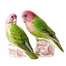 New Royal Crown Derby 1st Quality Ltd Edition Majestic Lovebirds Paperweight