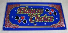Vintage IGT Players Choice Video Poker Machine Replacement Glass Sign Parts