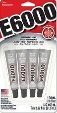 4 X Cola 5.3ml E6000 fuerza industrial para Joyería Cristales Estrás ~ ~ ~ granos